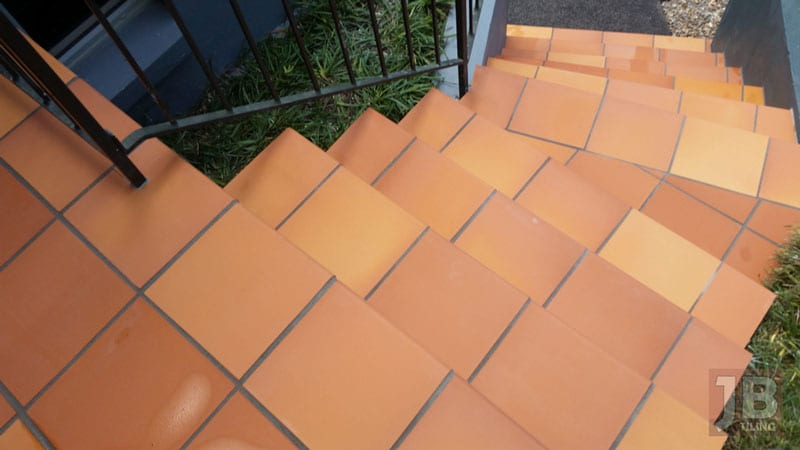 Terracotta tiles are a tile you must clean often to avoid costly clean up costs later.